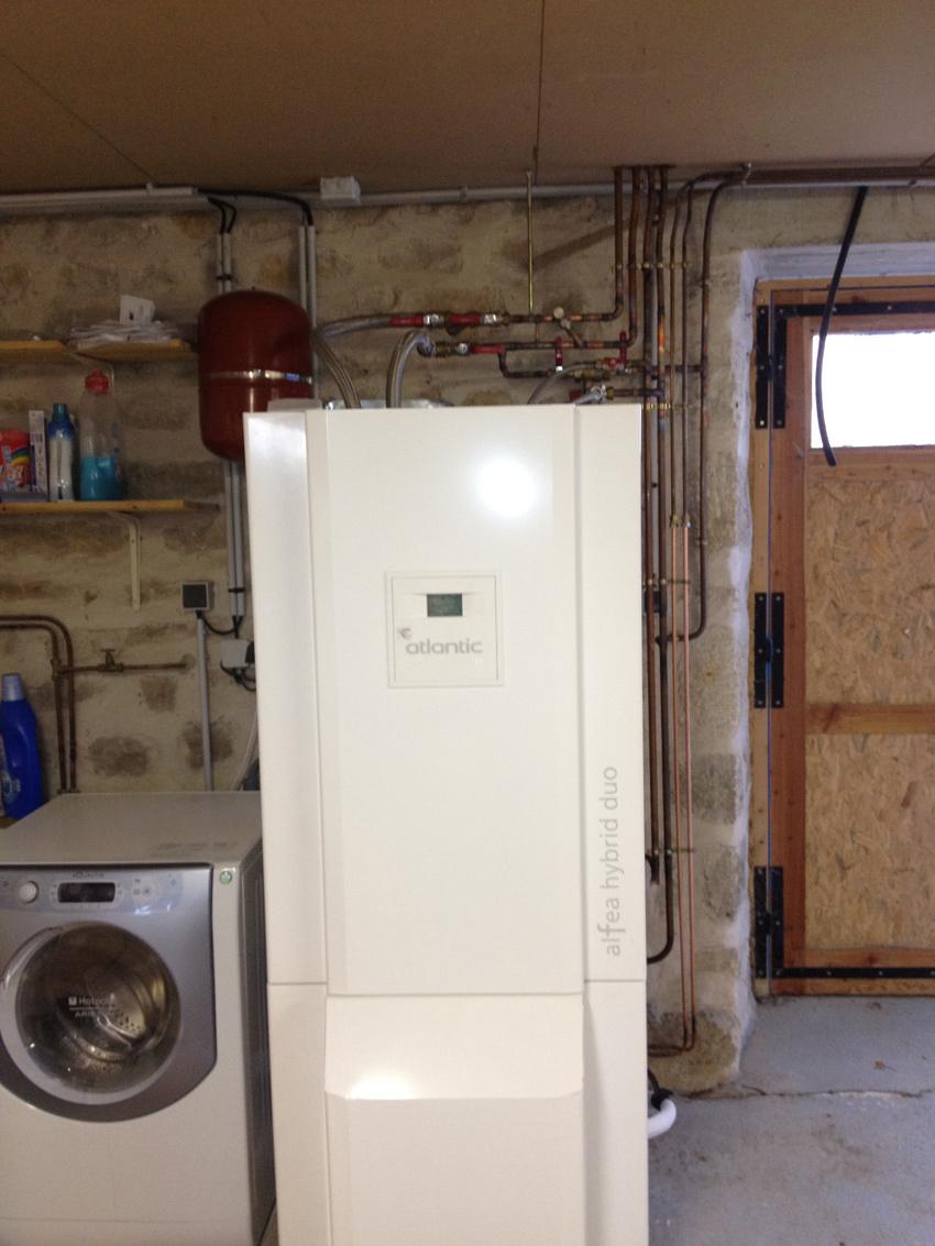 Altipac g othermie termine sa 40 me installation en - Pompe a chaleur monobloc interieur ...